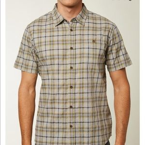 🌴 men's O'Neill static plaid short sleeve shirt